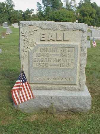 SMITH BALL, SARAH - Meigs County, Ohio | SARAH SMITH BALL - Ohio Gravestone Photos