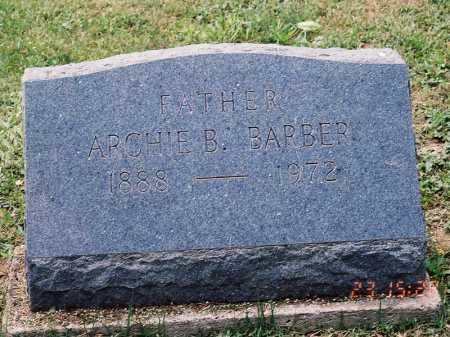 BARBER, ARCHIE B. - Meigs County, Ohio   ARCHIE B. BARBER - Ohio Gravestone Photos