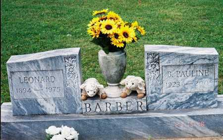 BARBER, LEONARD - Meigs County, Ohio   LEONARD BARBER - Ohio Gravestone Photos