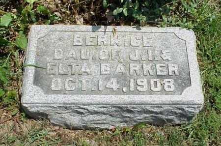 BARKER, BERNICE - Meigs County, Ohio | BERNICE BARKER - Ohio Gravestone Photos