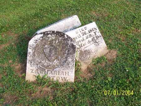 BARSTOW, ZACHARIAH - Meigs County, Ohio | ZACHARIAH BARSTOW - Ohio Gravestone Photos