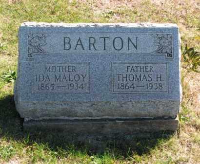 MALOY BARTON, IDA - Meigs County, Ohio | IDA MALOY BARTON - Ohio Gravestone Photos