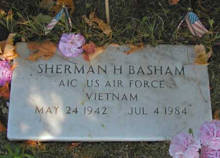 BASHAM, SHERMAN H. - Meigs County, Ohio | SHERMAN H. BASHAM - Ohio Gravestone Photos