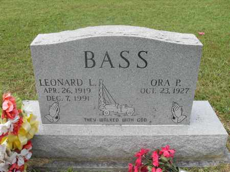 BASS, LEONARD L. - Meigs County, Ohio | LEONARD L. BASS - Ohio Gravestone Photos