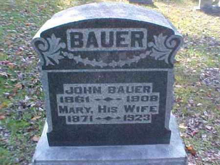 BAUER, MARY - Meigs County, Ohio | MARY BAUER - Ohio Gravestone Photos