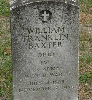BAXTER, WILLIAM FRANKLIN - Meigs County, Ohio   WILLIAM FRANKLIN BAXTER - Ohio Gravestone Photos