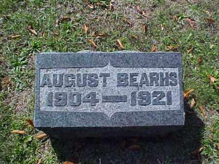 BEARHS, AUGUST - Meigs County, Ohio | AUGUST BEARHS - Ohio Gravestone Photos