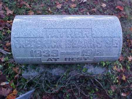 BEARHS, FREDERICK, SR. - Meigs County, Ohio   FREDERICK, SR. BEARHS - Ohio Gravestone Photos