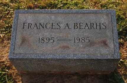 BEARHS, FRANCES A. - Meigs County, Ohio   FRANCES A. BEARHS - Ohio Gravestone Photos