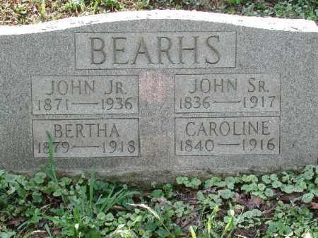 YOUNG BEARHS, CAROLINE - Meigs County, Ohio | CAROLINE YOUNG BEARHS - Ohio Gravestone Photos