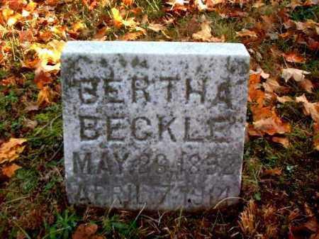 BECKLE, BERTHA - Meigs County, Ohio   BERTHA BECKLE - Ohio Gravestone Photos