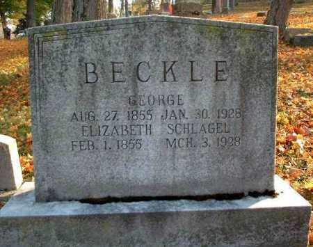 SCHLAGEL BECKLE, ELIZABETH - Meigs County, Ohio | ELIZABETH SCHLAGEL BECKLE - Ohio Gravestone Photos
