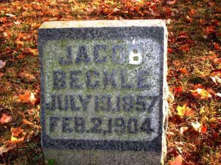 BECKLE, JACOB - Meigs County, Ohio | JACOB BECKLE - Ohio Gravestone Photos