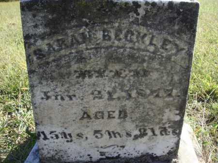 BECKLEY, SARAH - CLOSE VIEW - Meigs County, Ohio   SARAH - CLOSE VIEW BECKLEY - Ohio Gravestone Photos