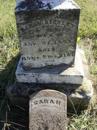 BECKLEY, SARAH - INDIVIDUAL GRAVE MARKER - Meigs County, Ohio   SARAH - INDIVIDUAL GRAVE MARKER BECKLEY - Ohio Gravestone Photos