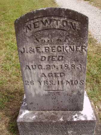 BECKNER, NEWTON - Meigs County, Ohio   NEWTON BECKNER - Ohio Gravestone Photos