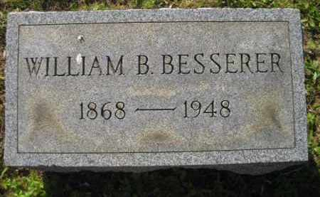 BESSERER, WILLIAM B - Meigs County, Ohio | WILLIAM B BESSERER - Ohio Gravestone Photos