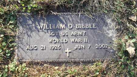"BIBBEE, WILLIAM ""BILL"" D. - Meigs County, Ohio   WILLIAM ""BILL"" D. BIBBEE - Ohio Gravestone Photos"