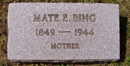 SKINNER BING, MATE ELIZABETH - Meigs County, Ohio   MATE ELIZABETH SKINNER BING - Ohio Gravestone Photos