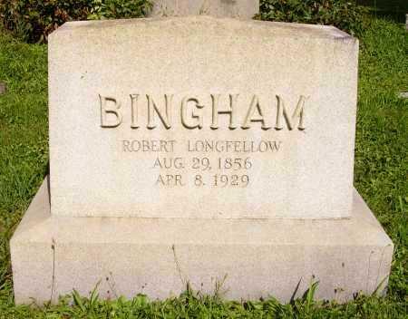 BINGHAM, ROBERT LONGFELLOW - FRONT VIEW - Meigs County, Ohio | ROBERT LONGFELLOW - FRONT VIEW BINGHAM - Ohio Gravestone Photos