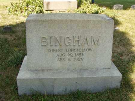 BINGHAM, ROBERT LONGFELLOW - Meigs County, Ohio | ROBERT LONGFELLOW BINGHAM - Ohio Gravestone Photos