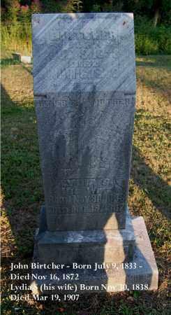 BIRTCHER, JOHN W. - Meigs County, Ohio | JOHN W. BIRTCHER - Ohio Gravestone Photos