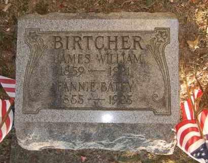 BIRTCHER, FANNIE - Meigs County, Ohio | FANNIE BIRTCHER - Ohio Gravestone Photos