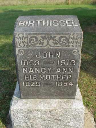 BIRTHISSEL, JOHN - Meigs County, Ohio | JOHN BIRTHISSEL - Ohio Gravestone Photos