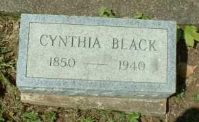 BLACK, CYNTHIA - Meigs County, Ohio | CYNTHIA BLACK - Ohio Gravestone Photos