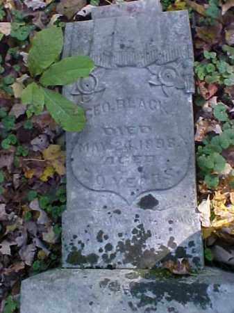 BLACK, GEORGE - Meigs County, Ohio | GEORGE BLACK - Ohio Gravestone Photos