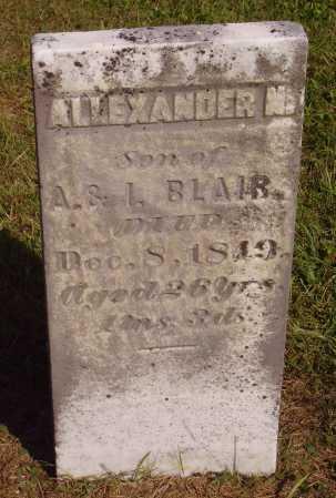 BLAIR, ALEXANDER N. - Meigs County, Ohio | ALEXANDER N. BLAIR - Ohio Gravestone Photos