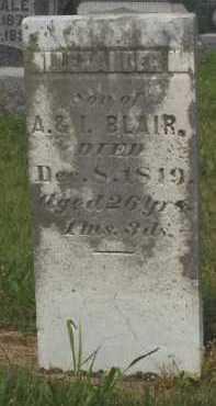 BLAIR, ALLEXANDER - Meigs County, Ohio | ALLEXANDER BLAIR - Ohio Gravestone Photos