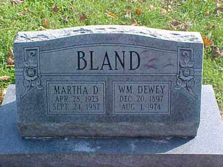 BLAND, WILLIAM DEWEY - Meigs County, Ohio | WILLIAM DEWEY BLAND - Ohio Gravestone Photos