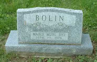 BOLIN, MABLE MURL - Meigs County, Ohio | MABLE MURL BOLIN - Ohio Gravestone Photos