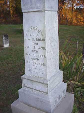 BOLIN, SARAH - Meigs County, Ohio | SARAH BOLIN - Ohio Gravestone Photos