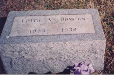 BOWEN, EDITH V. - Meigs County, Ohio | EDITH V. BOWEN - Ohio Gravestone Photos