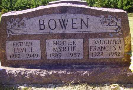 BOWEN, FRANCES VELMA - Meigs County, Ohio | FRANCES VELMA BOWEN - Ohio Gravestone Photos