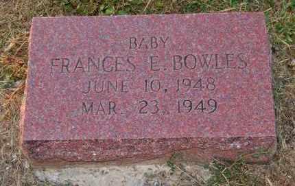 BOWLES, FRANCES E. - Meigs County, Ohio | FRANCES E. BOWLES - Ohio Gravestone Photos