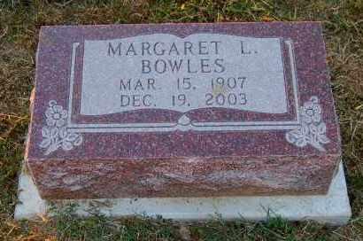 BOWLES, MARGARET L. - Meigs County, Ohio   MARGARET L. BOWLES - Ohio Gravestone Photos
