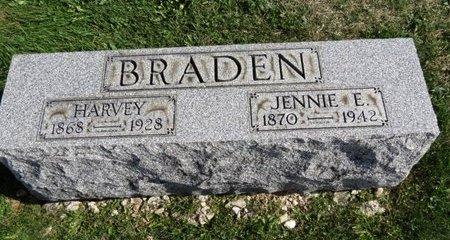 BRADEN, JENNIE E. - Meigs County, Ohio | JENNIE E. BRADEN - Ohio Gravestone Photos