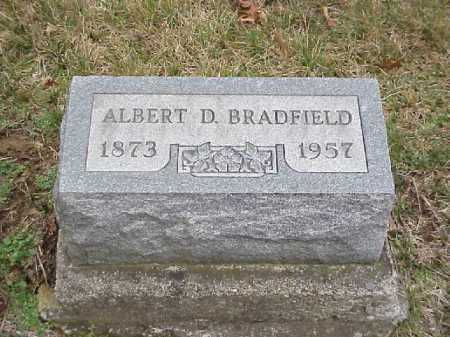 BRADFIELD, ALBERT D. - Meigs County, Ohio | ALBERT D. BRADFIELD - Ohio Gravestone Photos