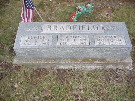 BRADFIELD, ADDIE - Meigs County, Ohio | ADDIE BRADFIELD - Ohio Gravestone Photos