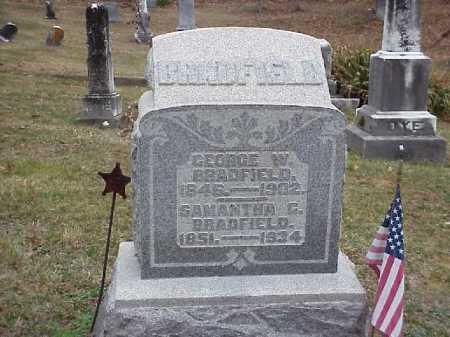 BRADFIELD, GEORGE W. - Meigs County, Ohio | GEORGE W. BRADFIELD - Ohio Gravestone Photos