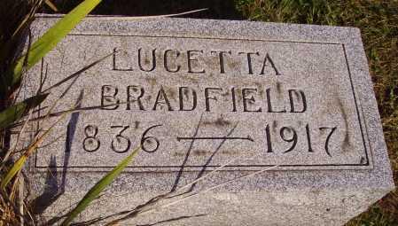 BRADFIELD, LUCETTA - Meigs County, Ohio   LUCETTA BRADFIELD - Ohio Gravestone Photos