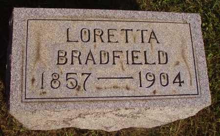 BRADFIELD, LORETTA - Meigs County, Ohio   LORETTA BRADFIELD - Ohio Gravestone Photos