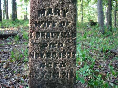 BRADFIELD, MARY - Meigs County, Ohio   MARY BRADFIELD - Ohio Gravestone Photos