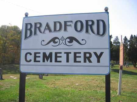 BRADFORD, CEMETERYSIGN - Meigs County, Ohio | CEMETERYSIGN BRADFORD - Ohio Gravestone Photos