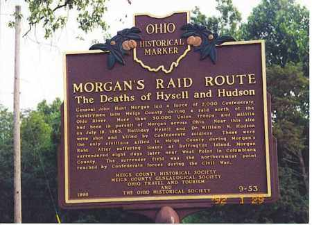 MORGAN'S RAID, SIGN - Meigs County, Ohio | SIGN MORGAN'S RAID - Ohio Gravestone Photos