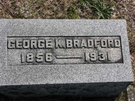 BRADFORD, GEORGE K. - Meigs County, Ohio | GEORGE K. BRADFORD - Ohio Gravestone Photos