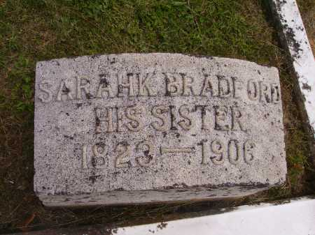 BRADFORD, SARAHK - Meigs County, Ohio   SARAHK BRADFORD - Ohio Gravestone Photos